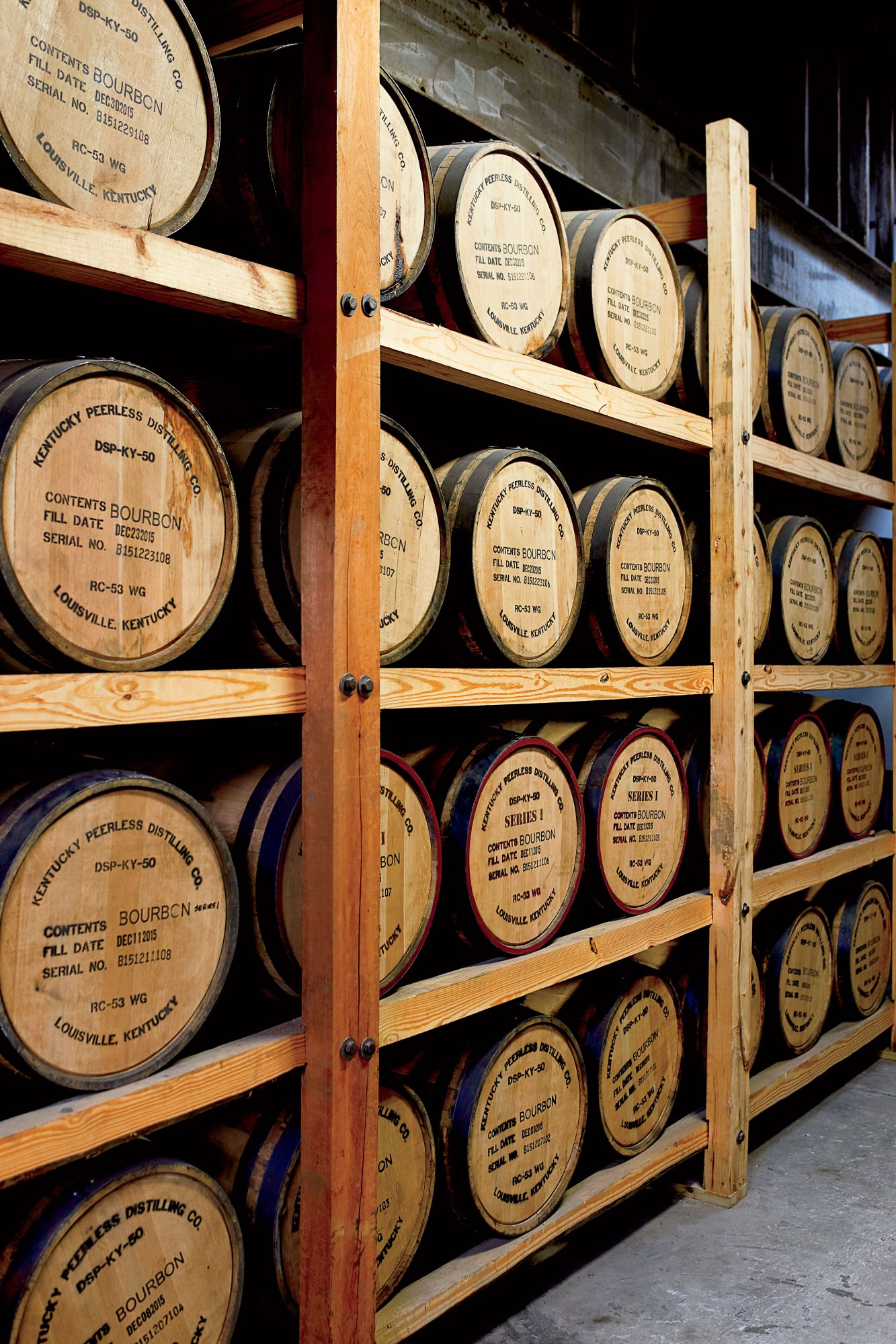Kentucky Peerless Distilling Barrels