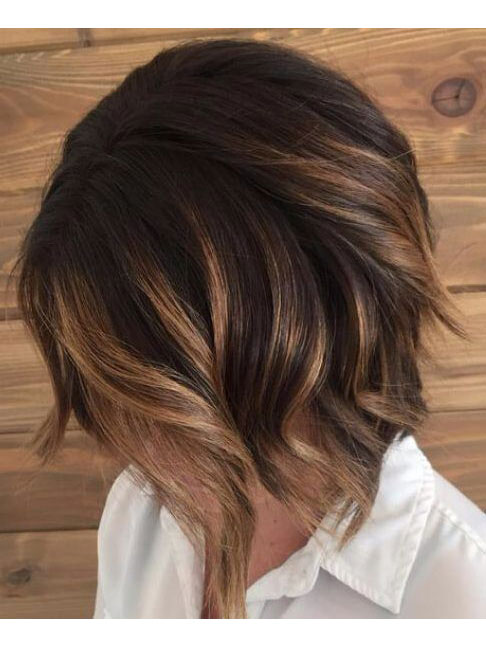 Dark Chocolate Stacked Bob with Caramel Pieces