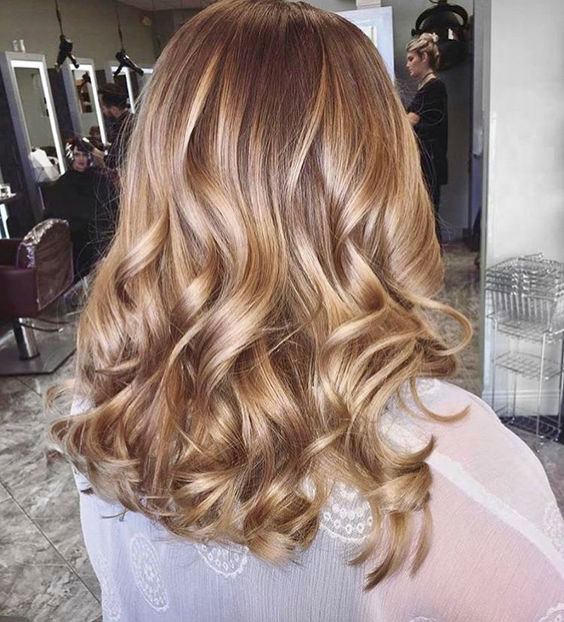 Cream Soda with Rose Gold Balayage