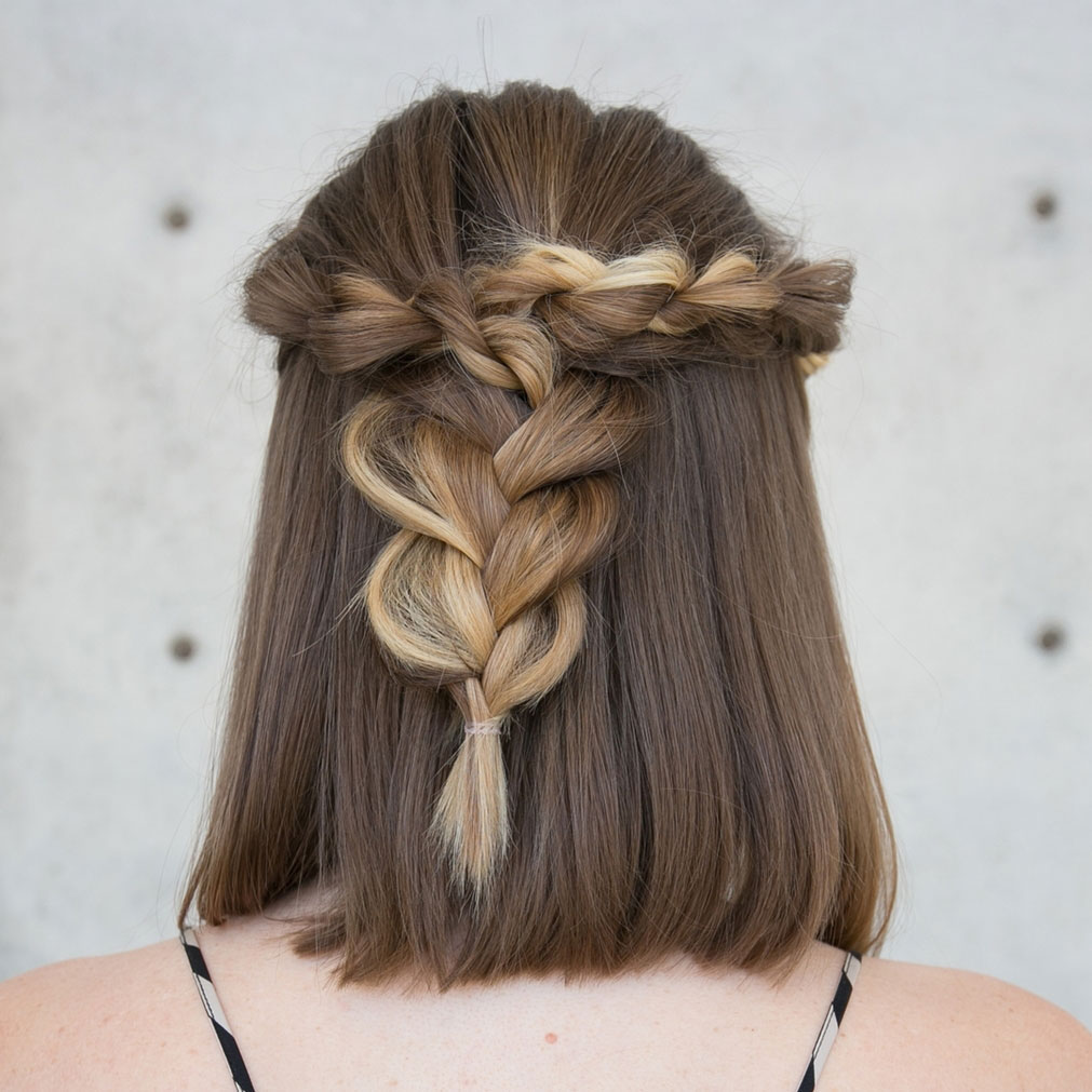 Rope Braid Half Up
