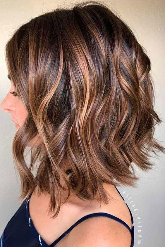 Chestnut Brown with Heavy Caramel Balayage