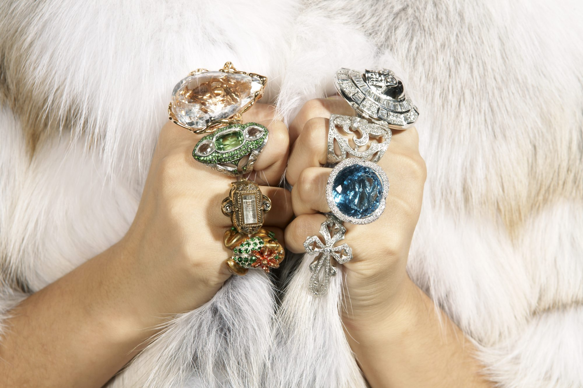 Rich Lady with Lots Of Rings