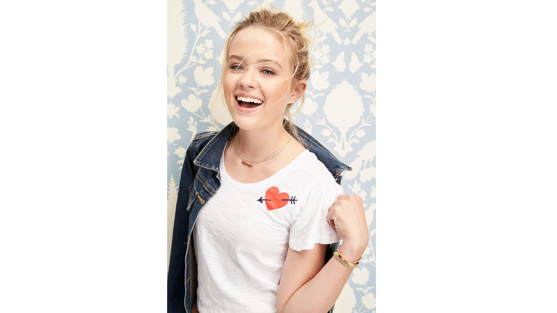 Ava Phillippe Draper James Heart Tee