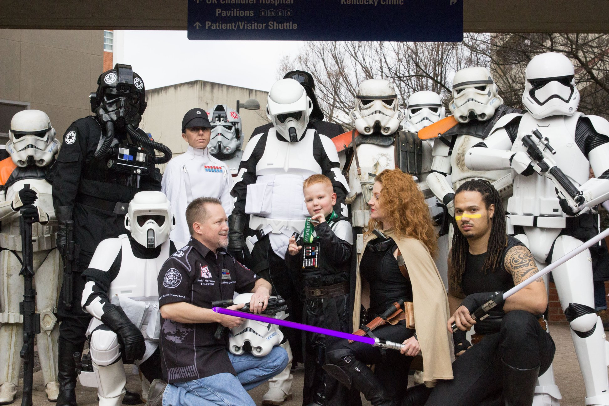 Bruce with Storm Troopers