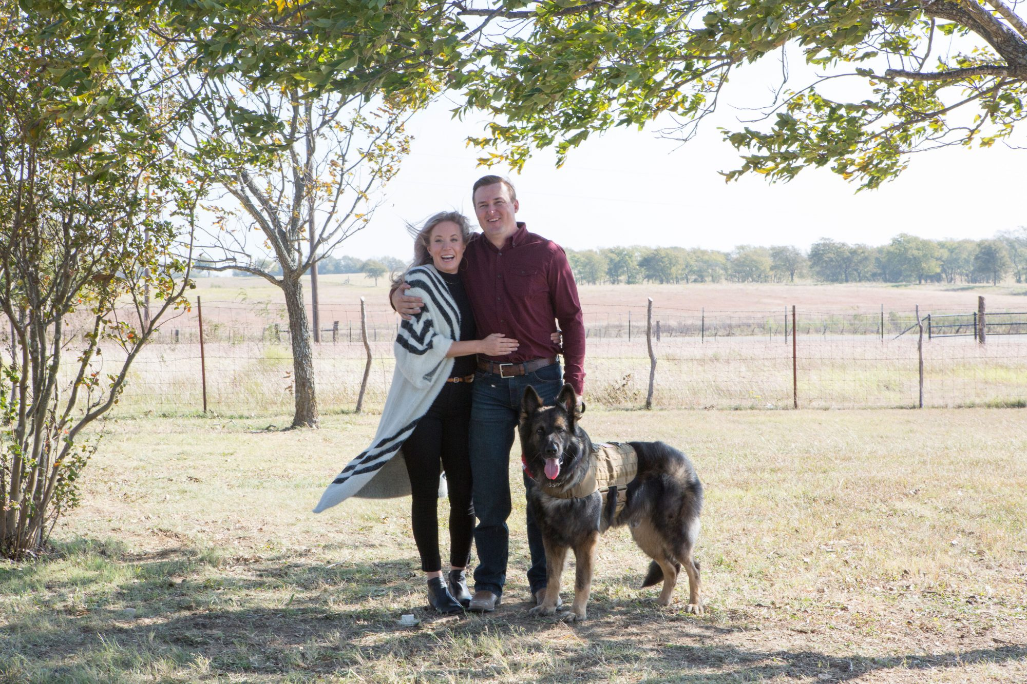 Southern Living Fixer Upper Proposal Couple Dog