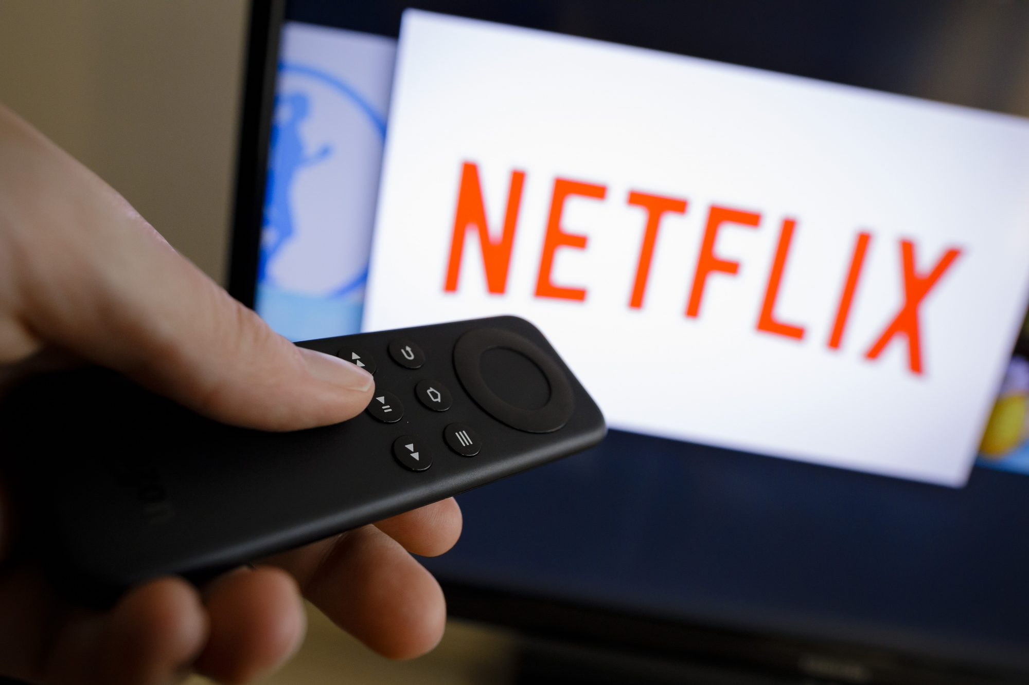 Netflix screen and remote