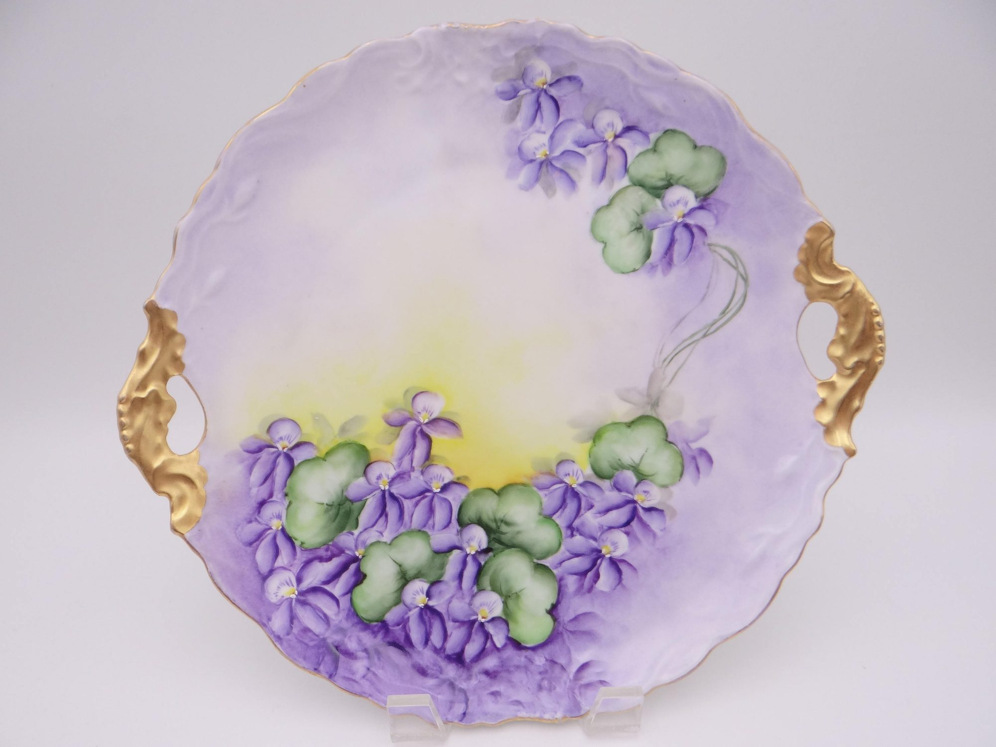 Hand-Painted Violet Serving Tray