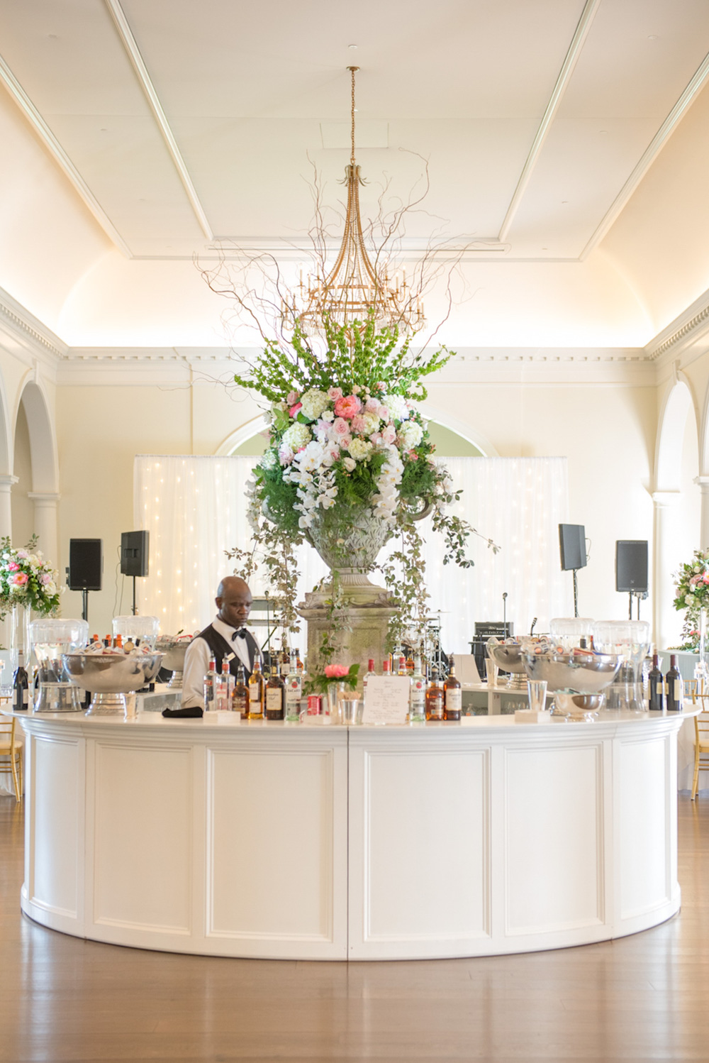 Big Wedding Bar Floral Arrangement