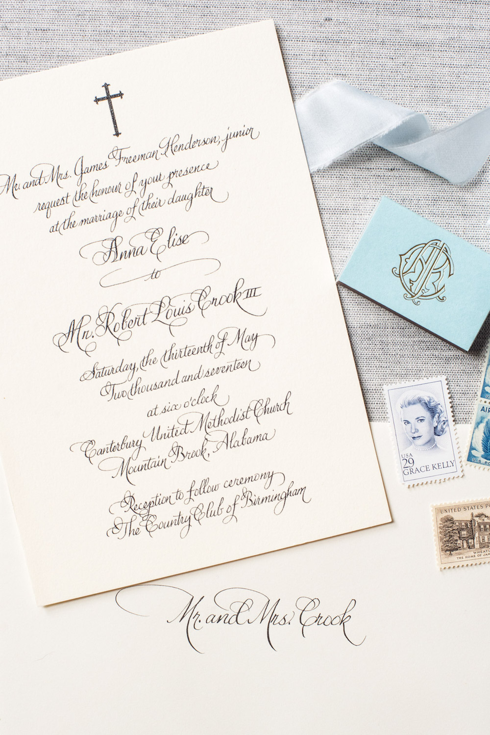 Religious Wedding Invitation Calligraphy
