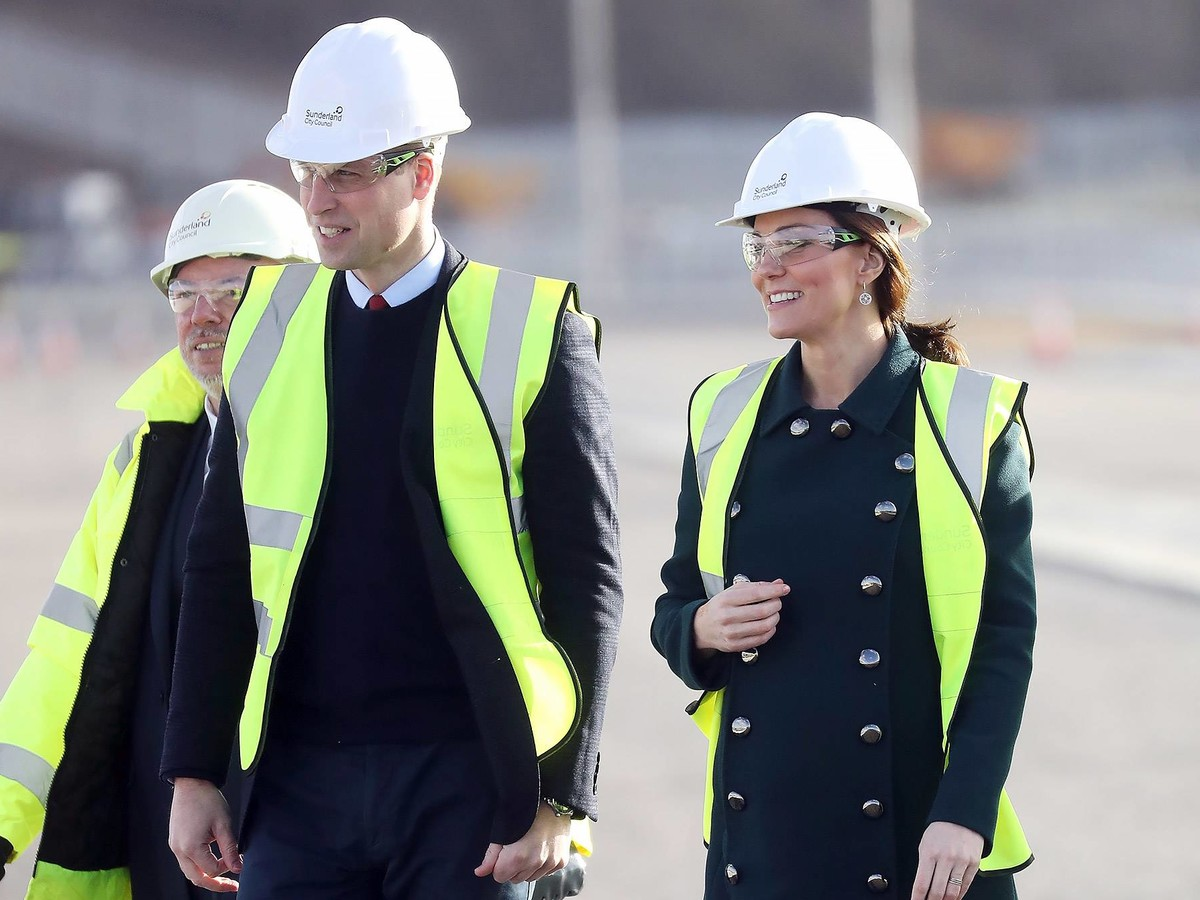 William and Kate in Hard Hats