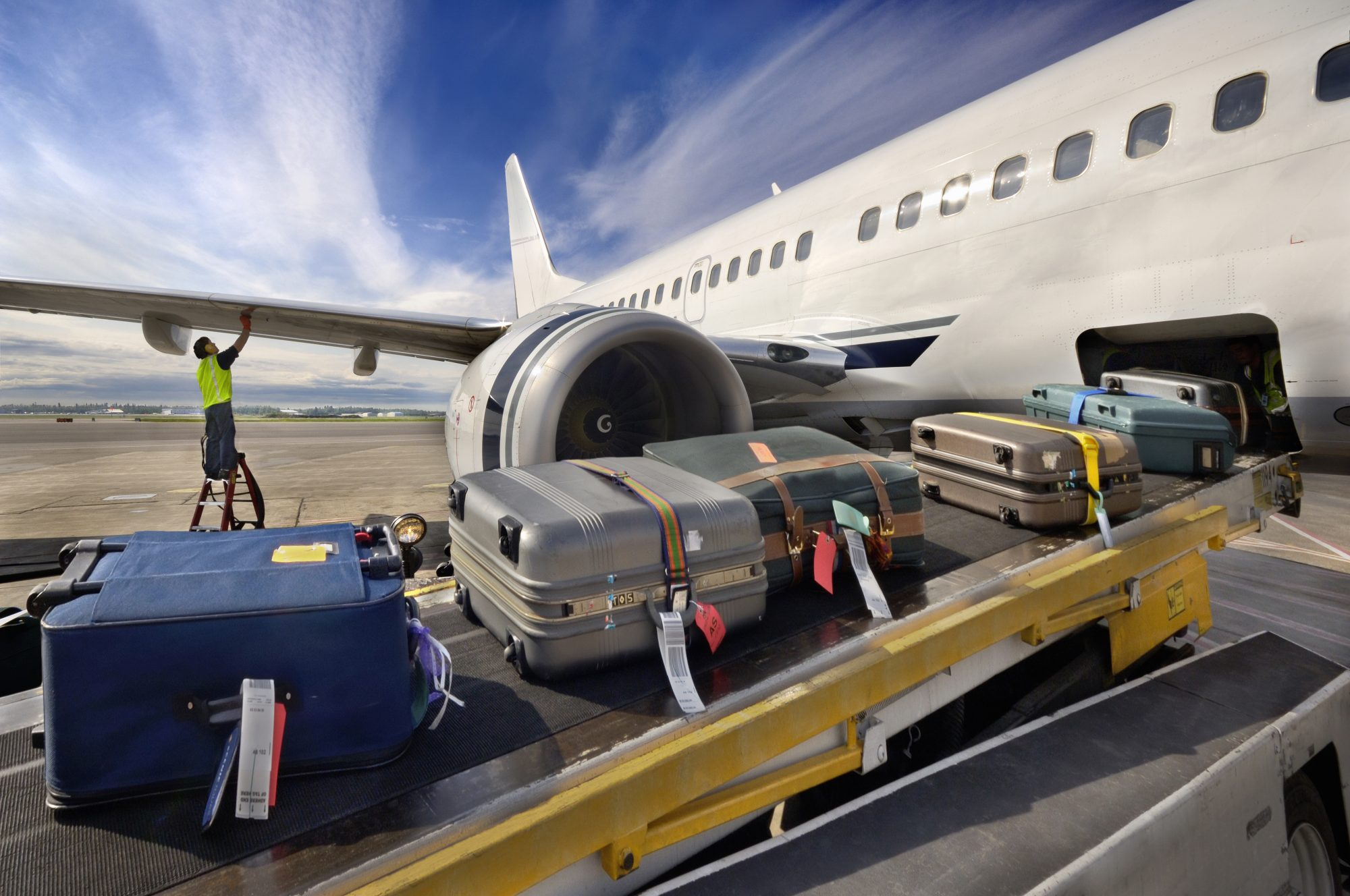 Luggage Loading onto Plane