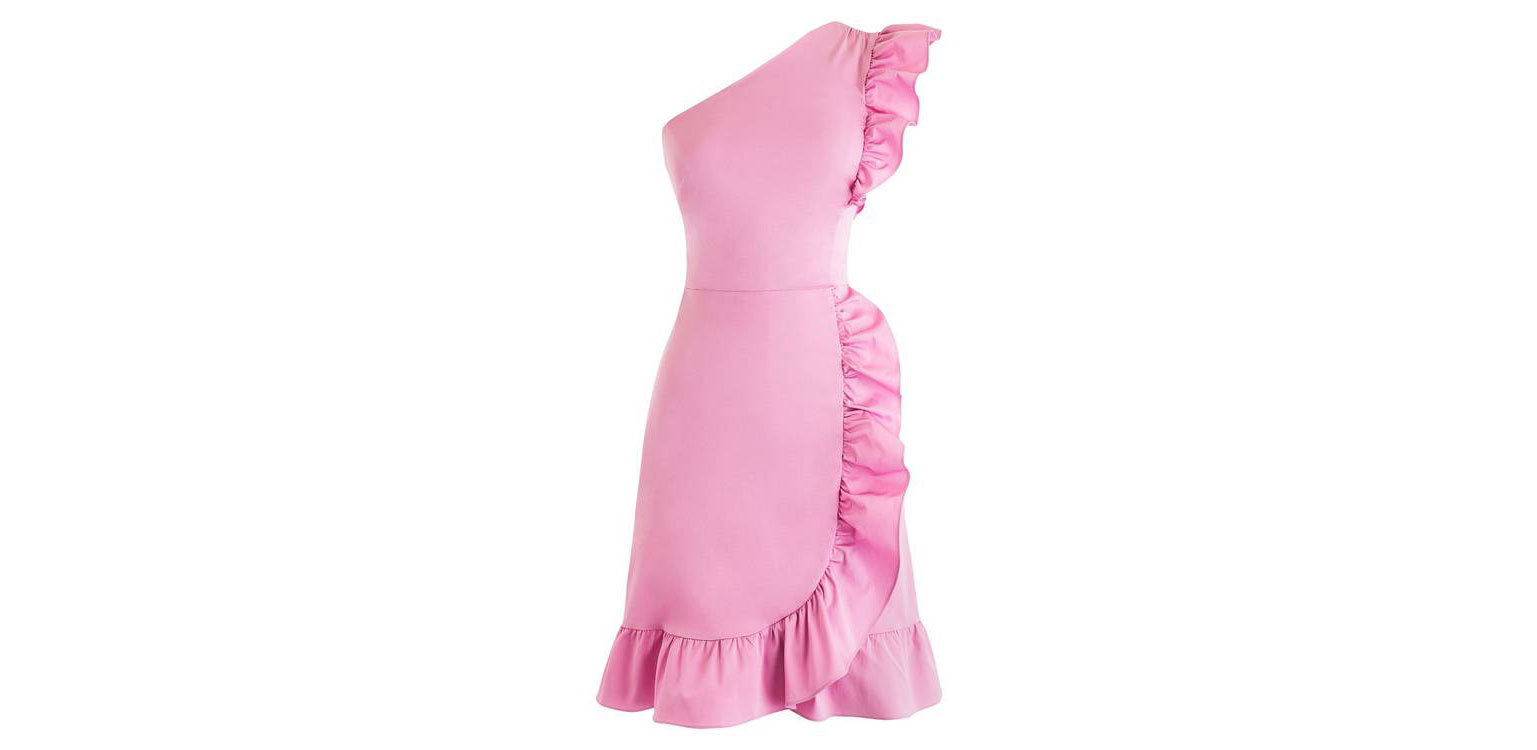 ruffle-one-shoulder-dress