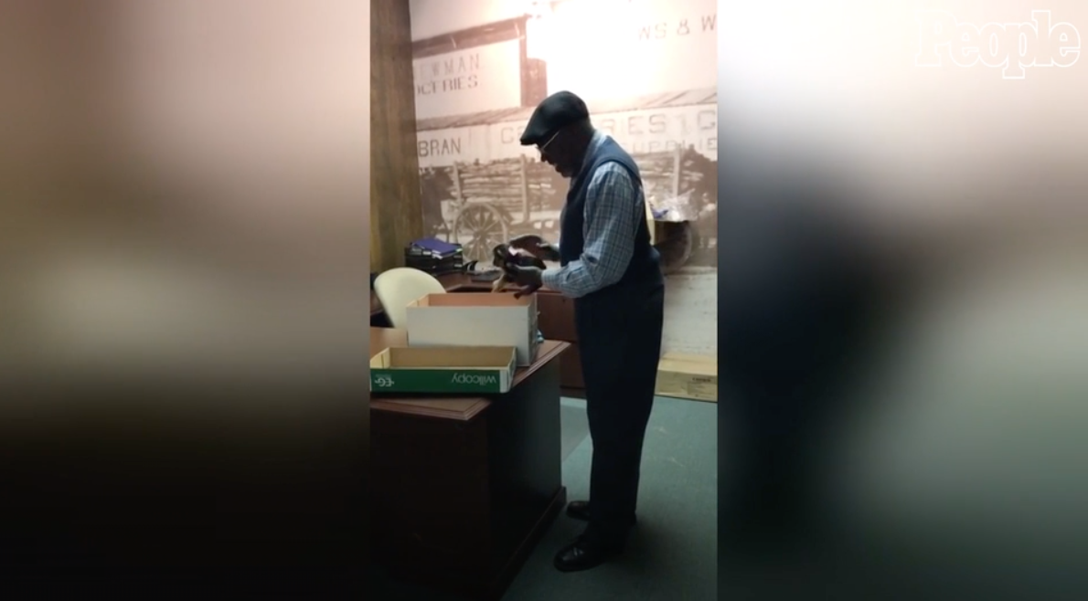 Hard-Working Janitor Receives Fluffy Surprise