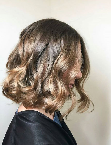 Neutral Brown with Neutral Beige Balayage