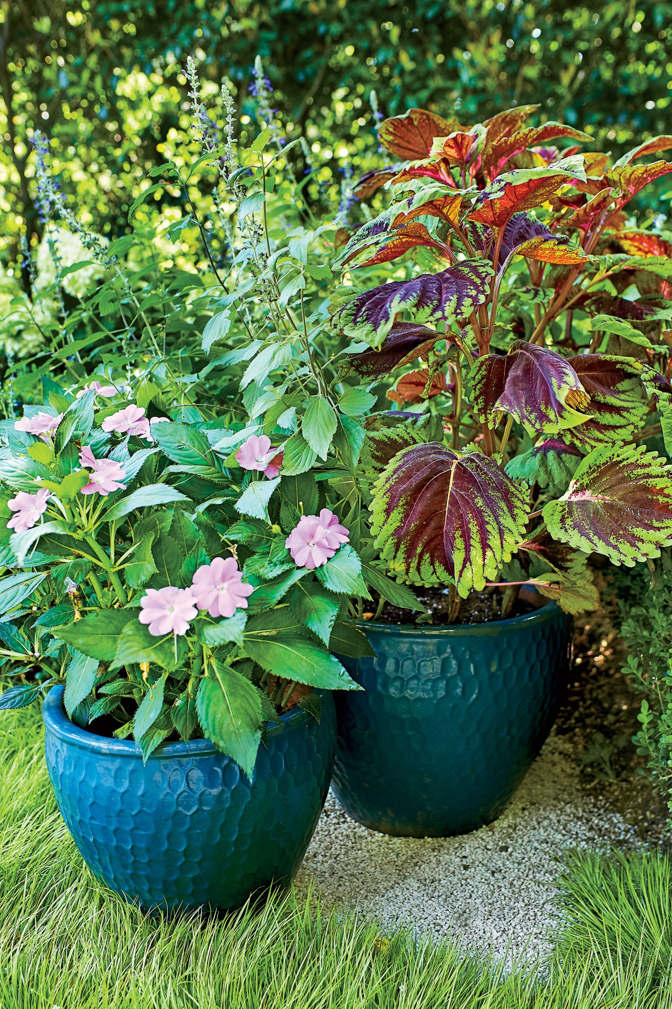 Anthony Brewington Bungalow Garden Pots with Flowers for Color