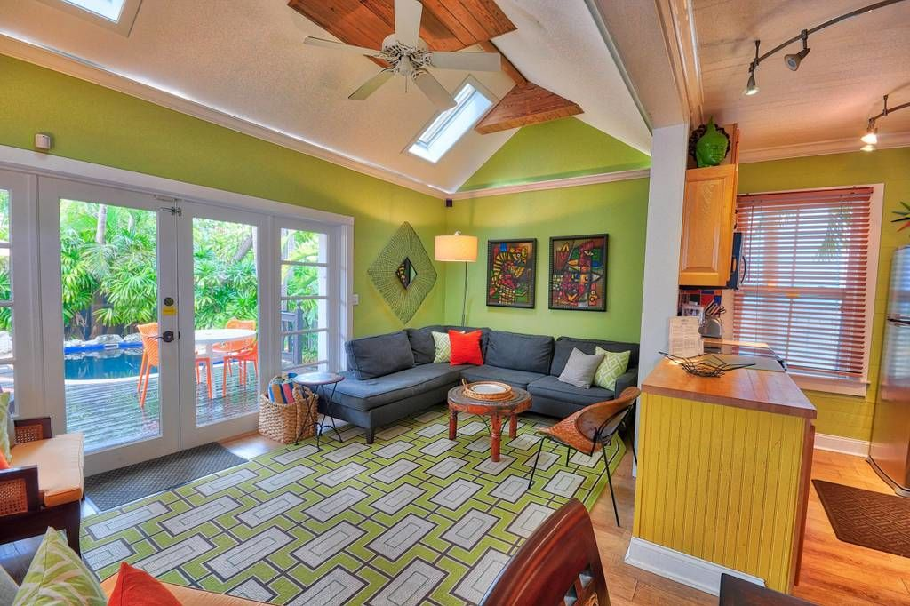 Tiny Colorful Key West Rental Living View