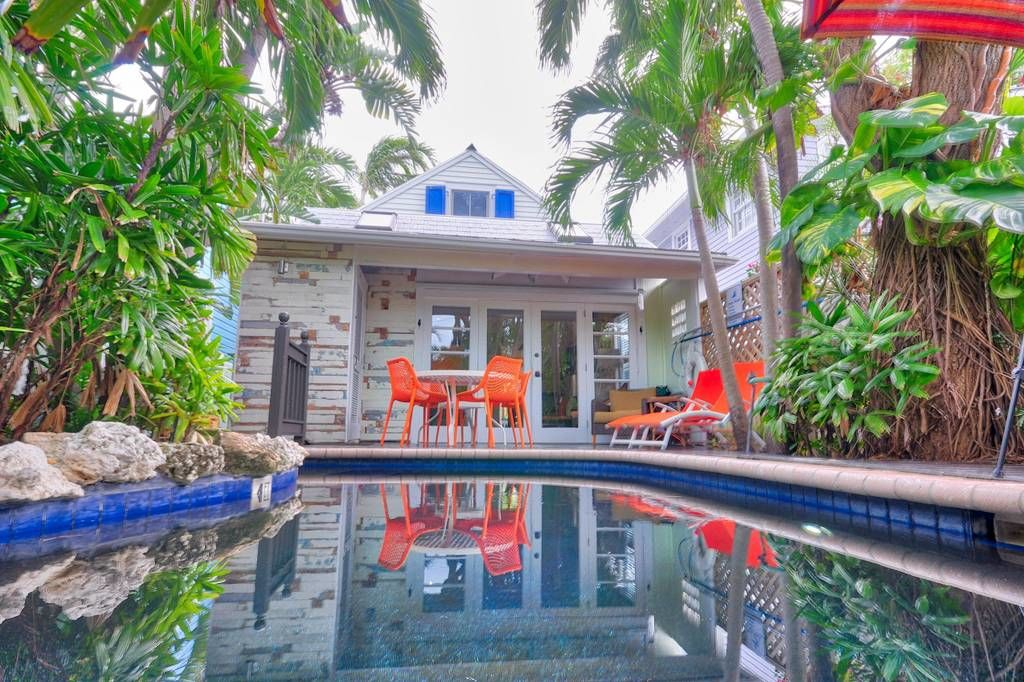 Tiny Colorful Key West Rental Pool