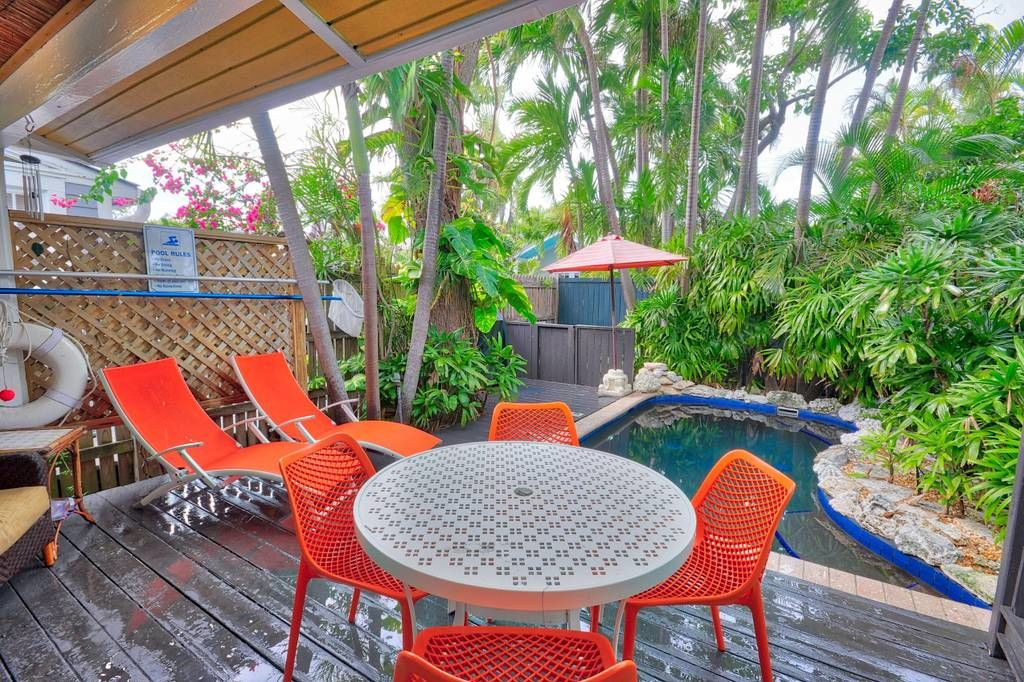 Tiny Colorful Key West Rental Deck