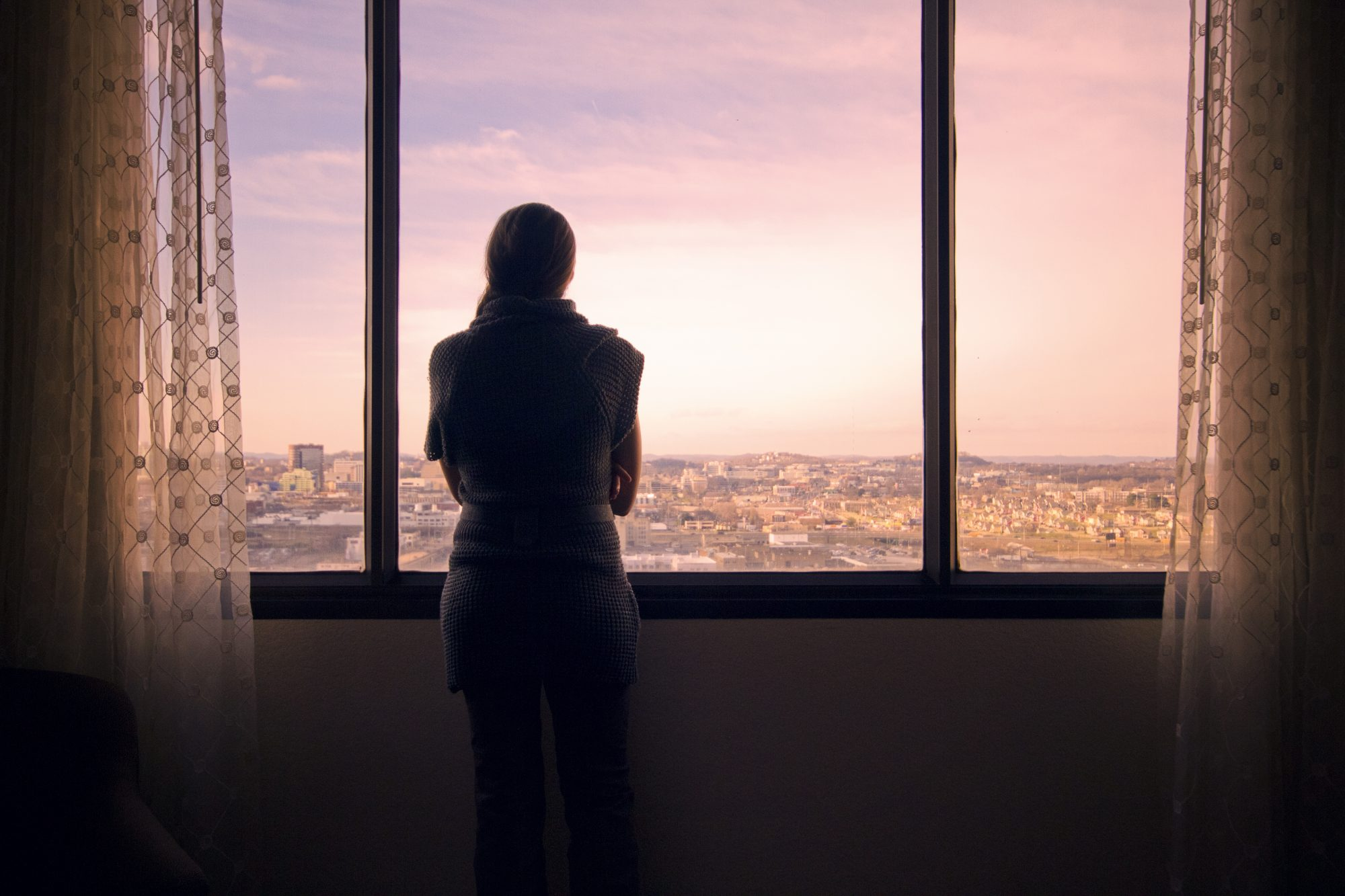 Woman Looking Over Nashville