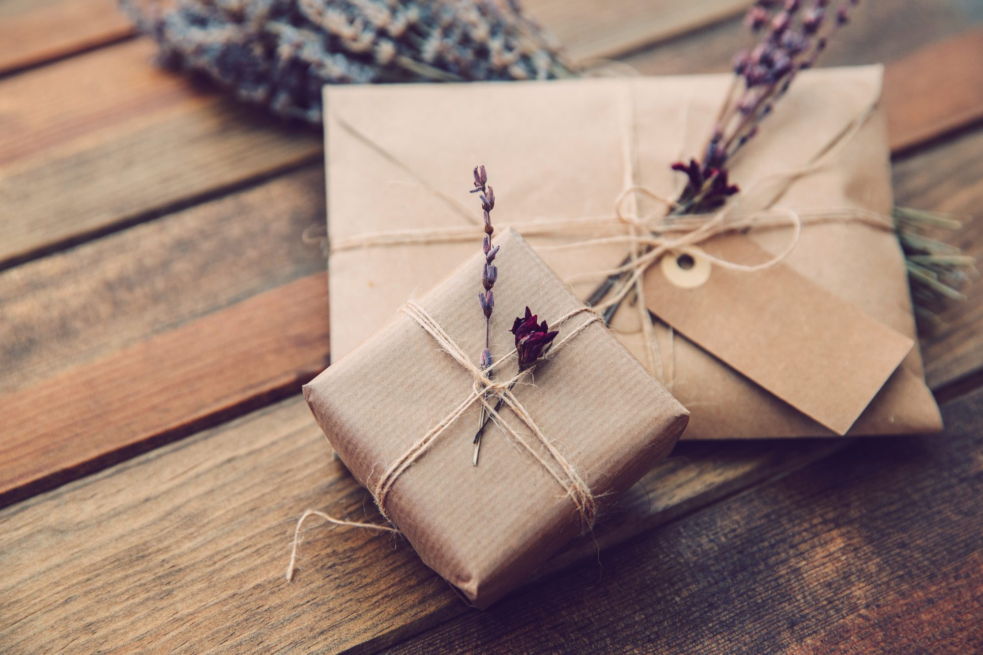 Wrapped Gift Kraft Paper