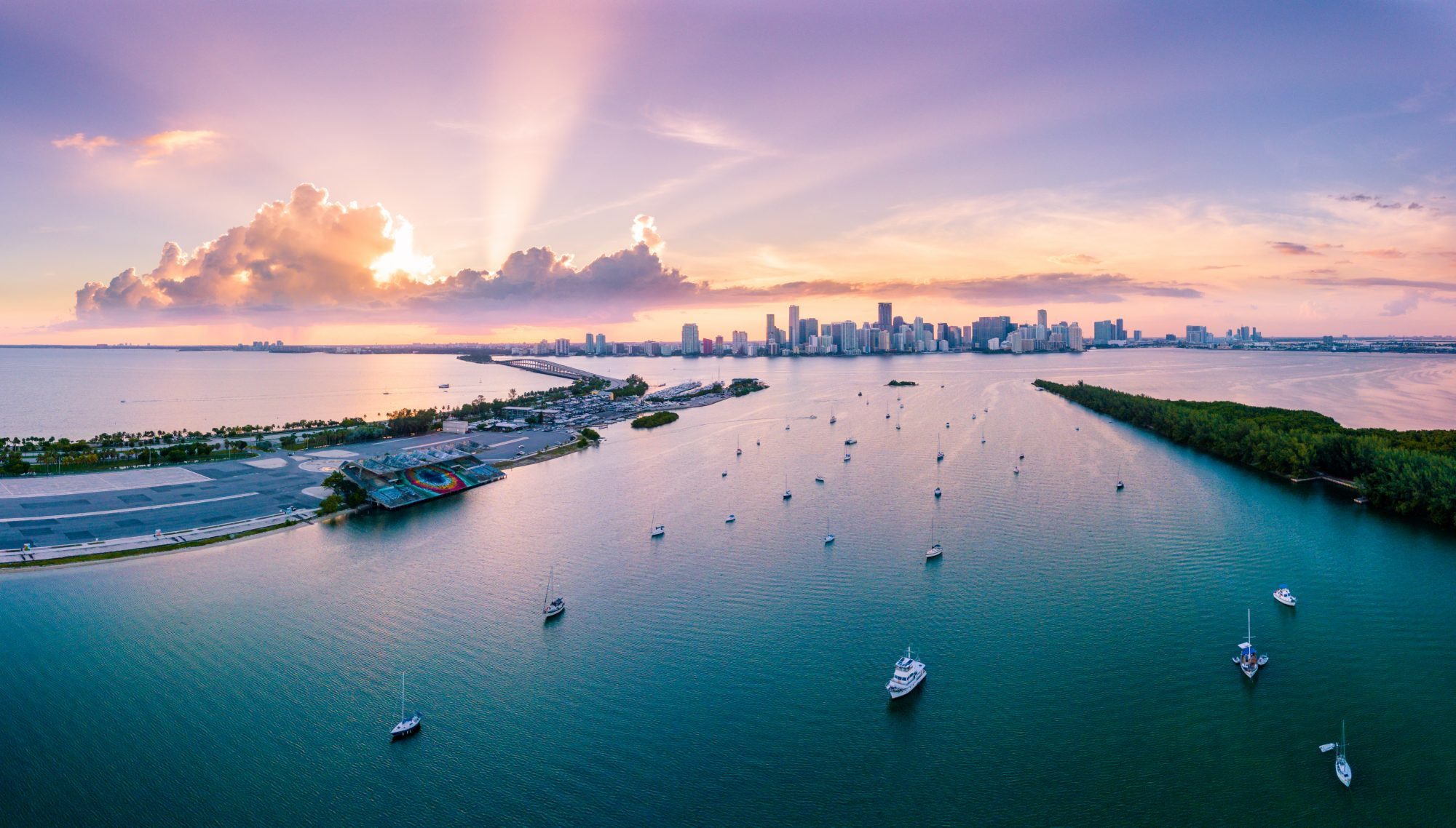 Miami Sunset and Skyline