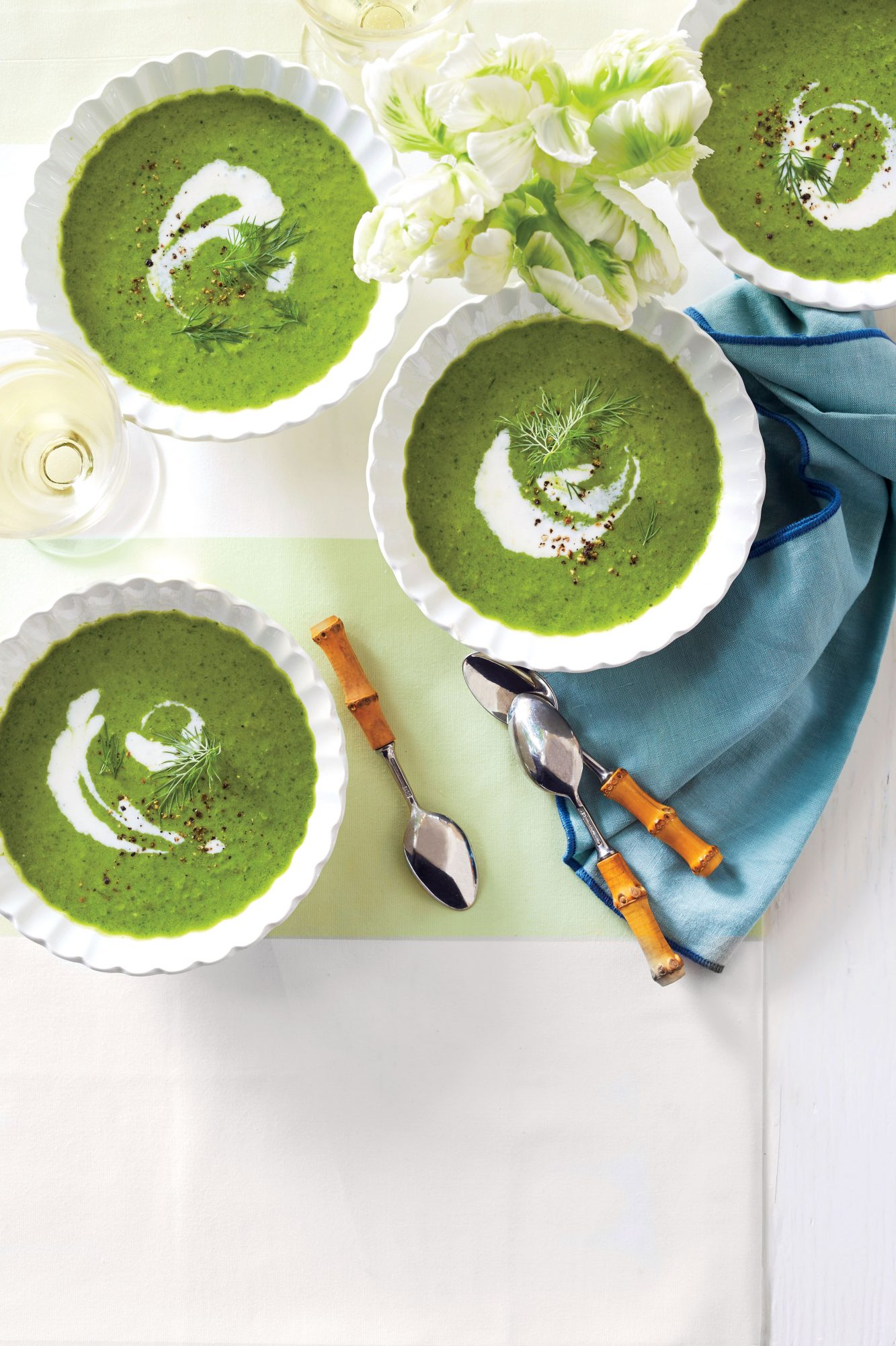 Spring Lettuce and Leek Soup