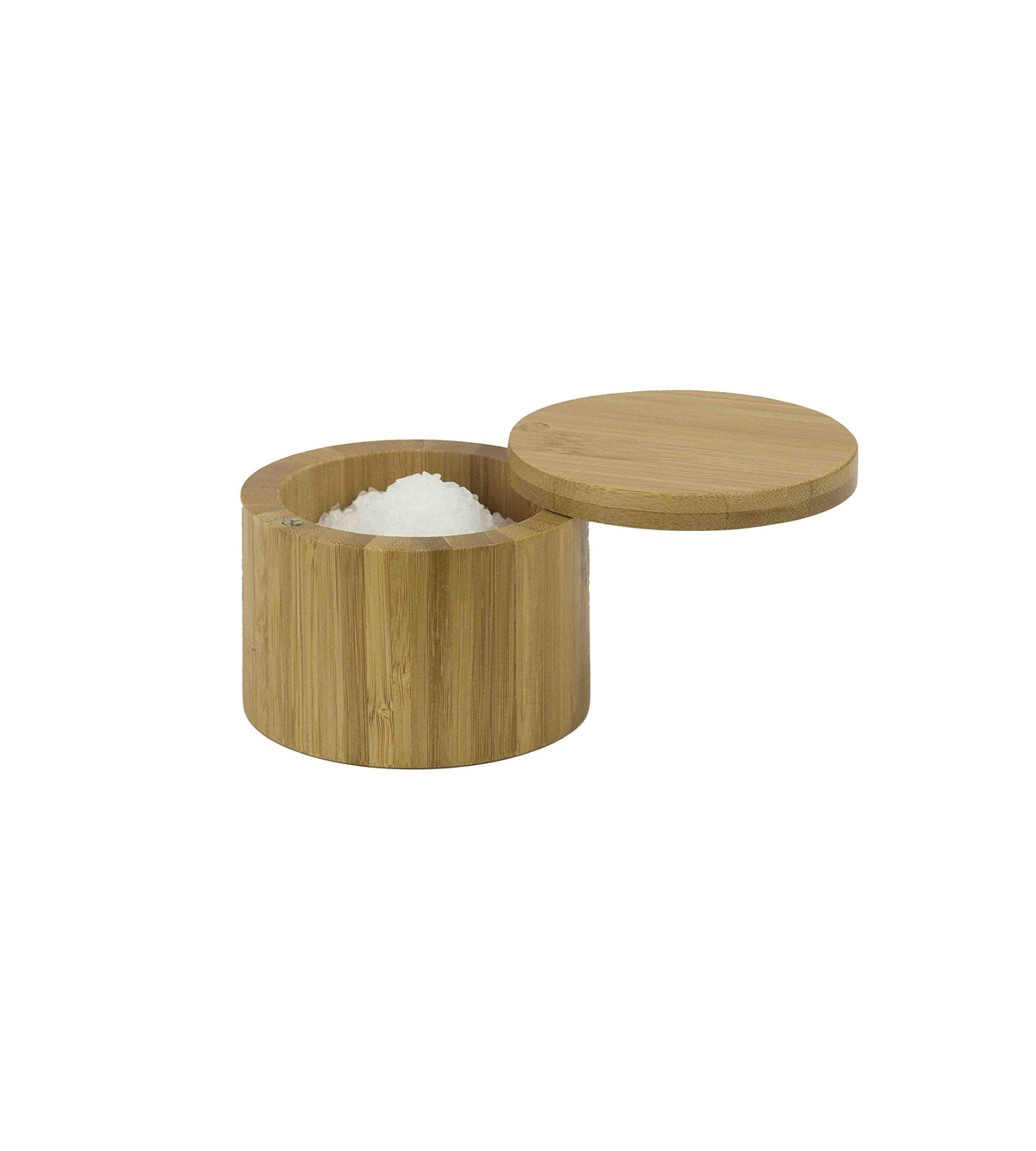 Home Basics Bamboo Swivel Salt Box