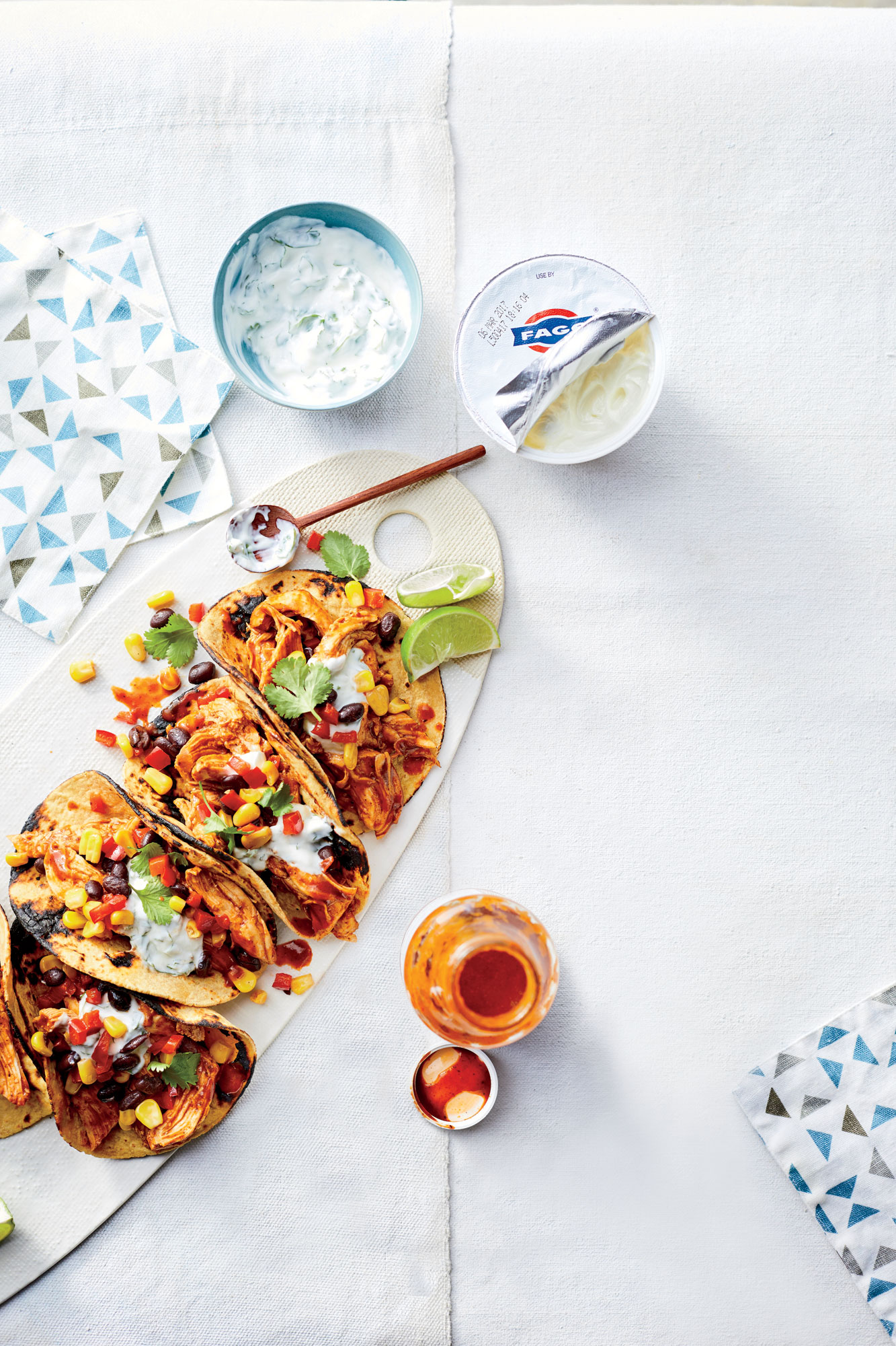 BBQ Chicken-and-Black Bean Tacos