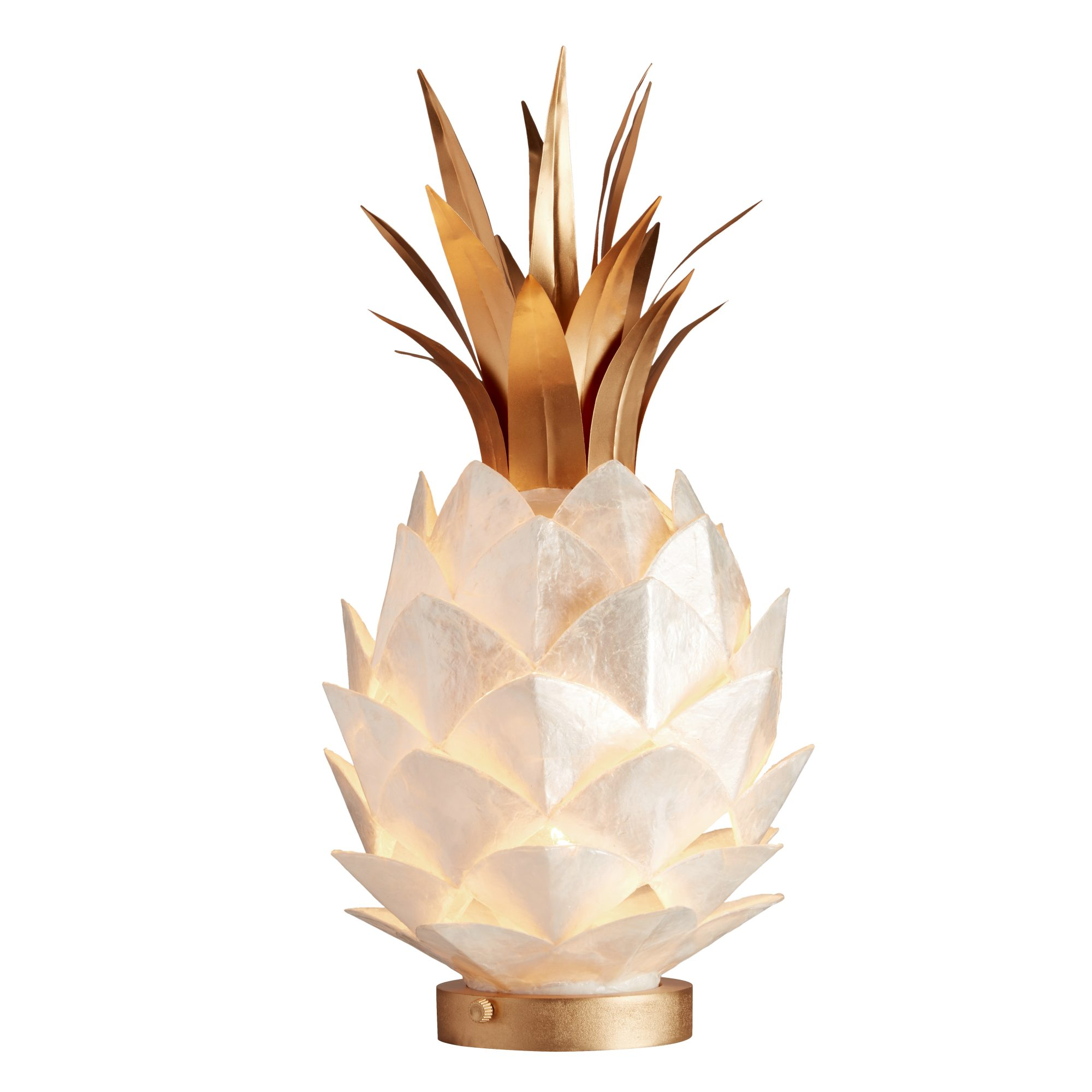 Capiz Pineapple Lamp