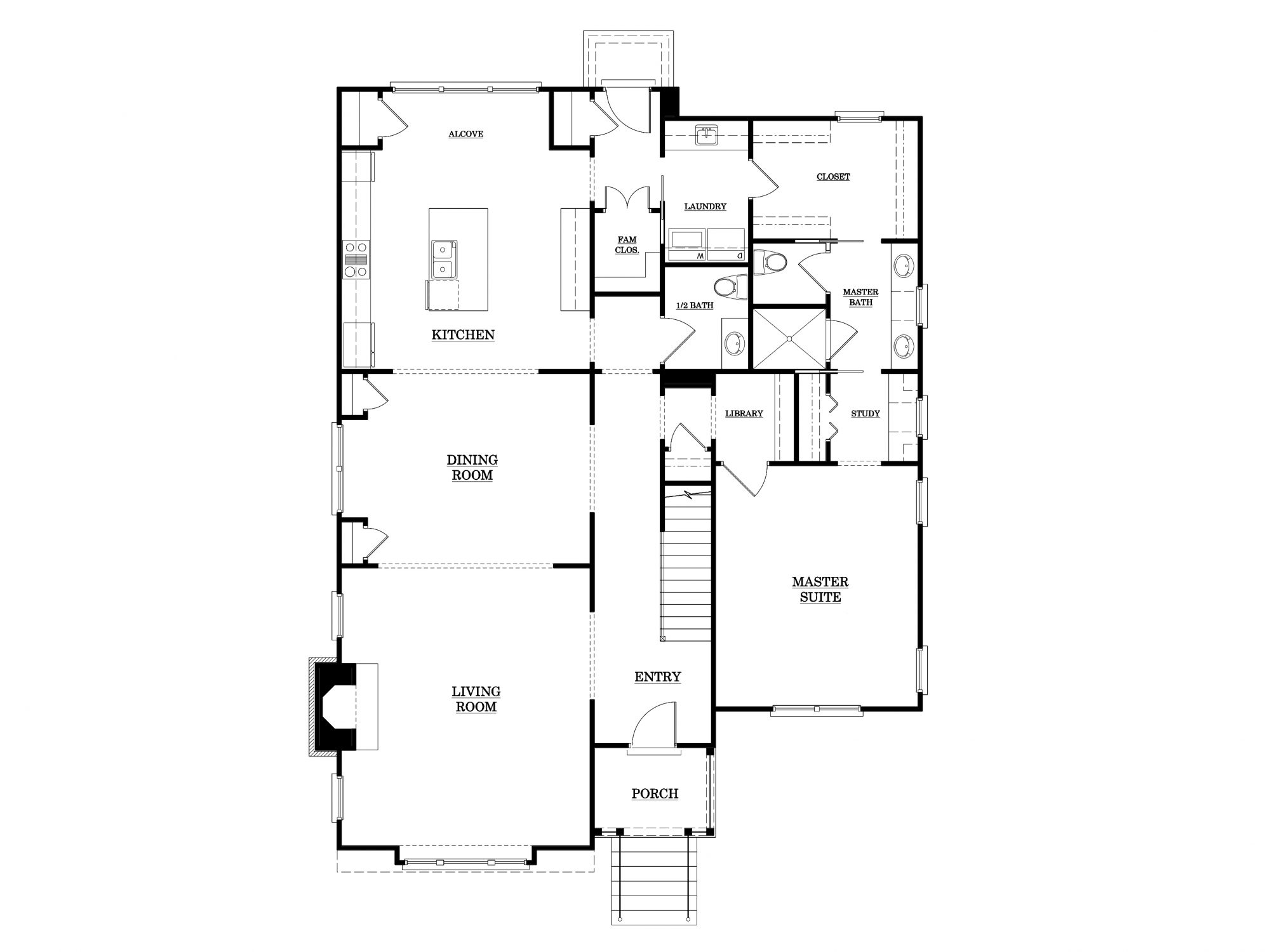 Dogwood Place First Floor Plan