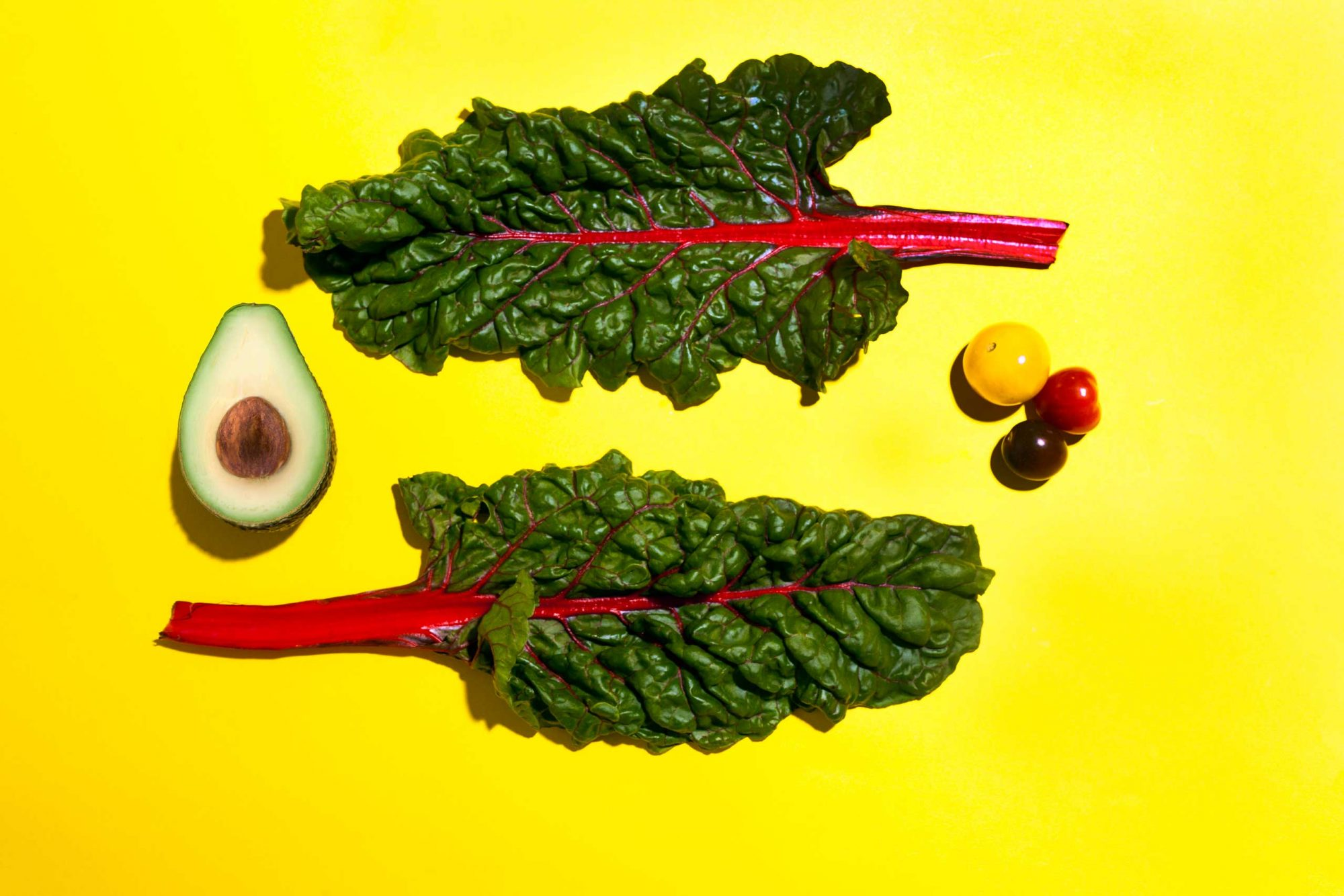 TIME.com stock photos Food Healthy Vegetables Chard Avocado