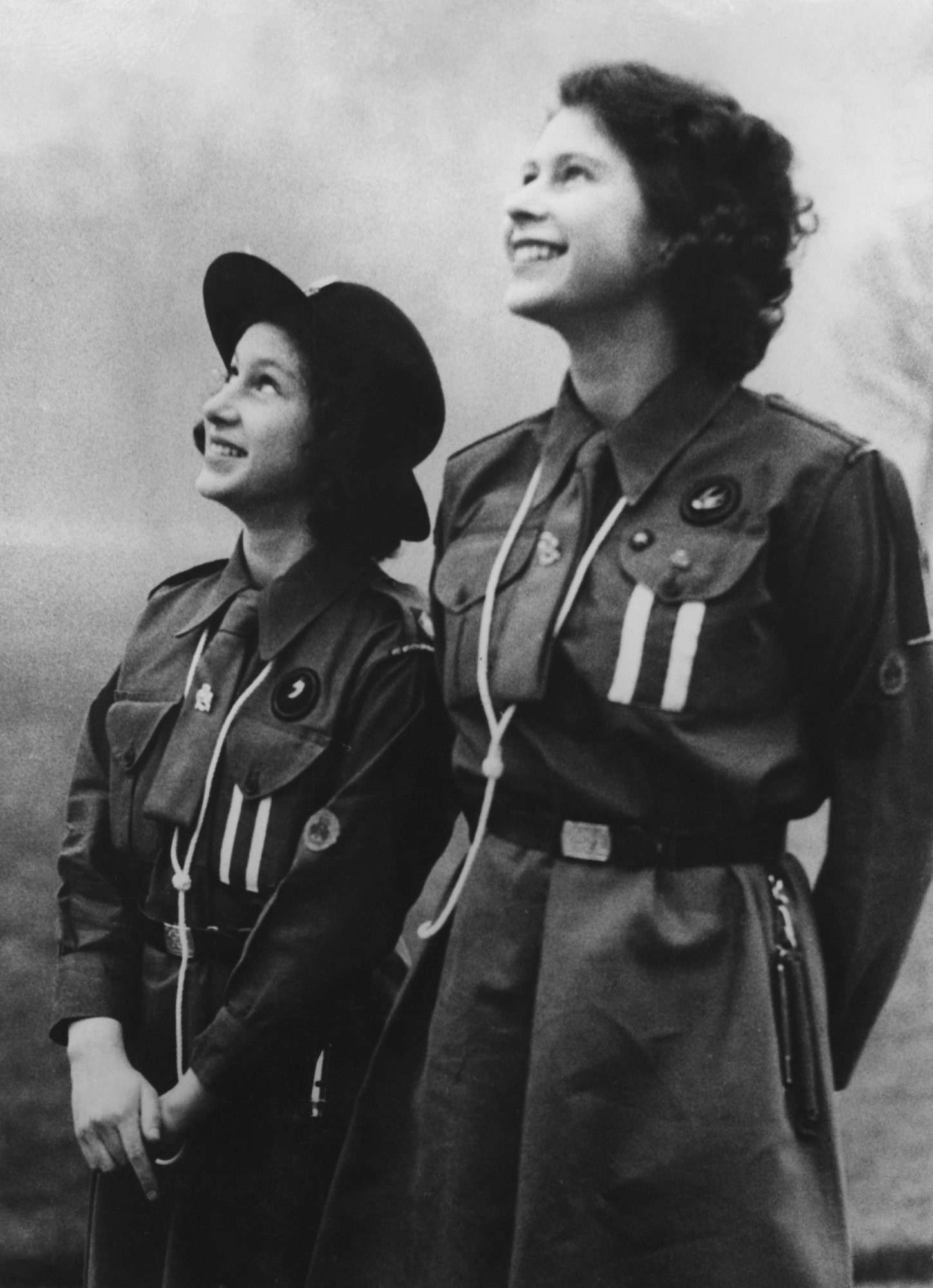 Queen Elizabeth as a Girl Guide
