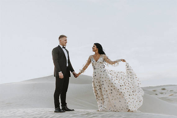 Wedding Gown with Stars
