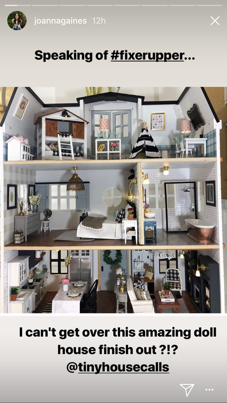 Joanna Gaines 'Can't Get Over' This Unbelievable Fixer Upper-Inspired Dollhouse img_7442