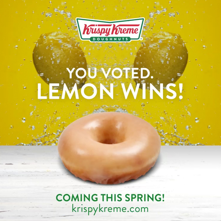 Lemon Glazed Krispy Kreme