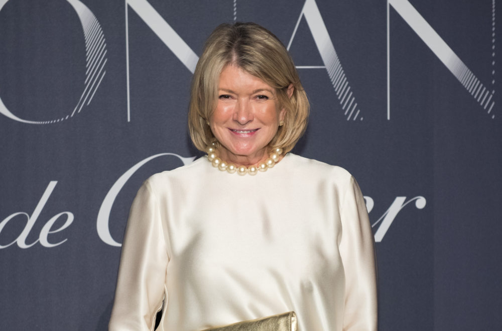 Martha Stewart on the red carpet