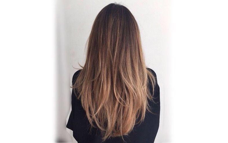 Ombre Brunette with Layers