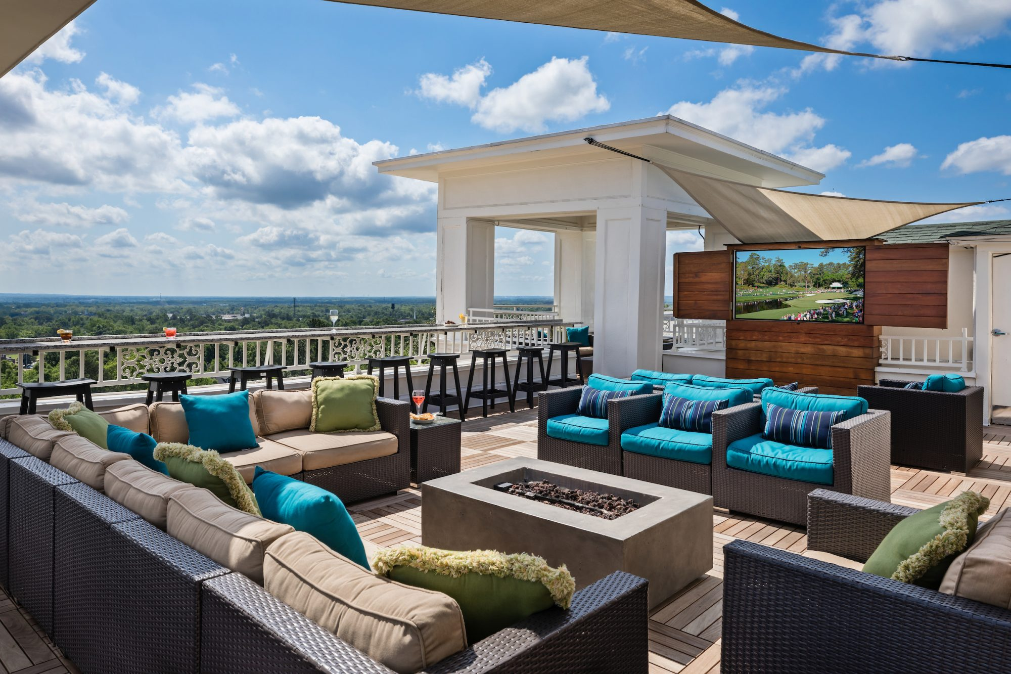 The Partridge Inn Rooftop Bar in Augusta, GA