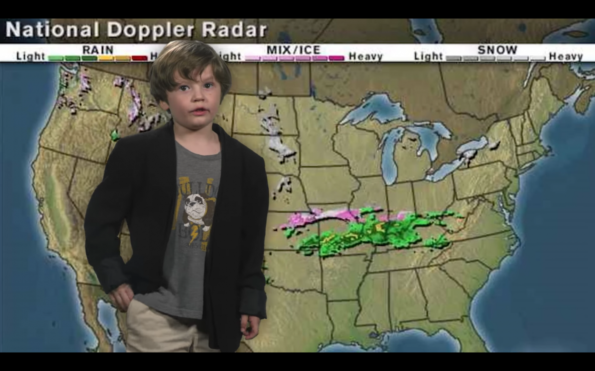 This Tennessee Kindergartner's Hilarious Weather Report is Going Viral