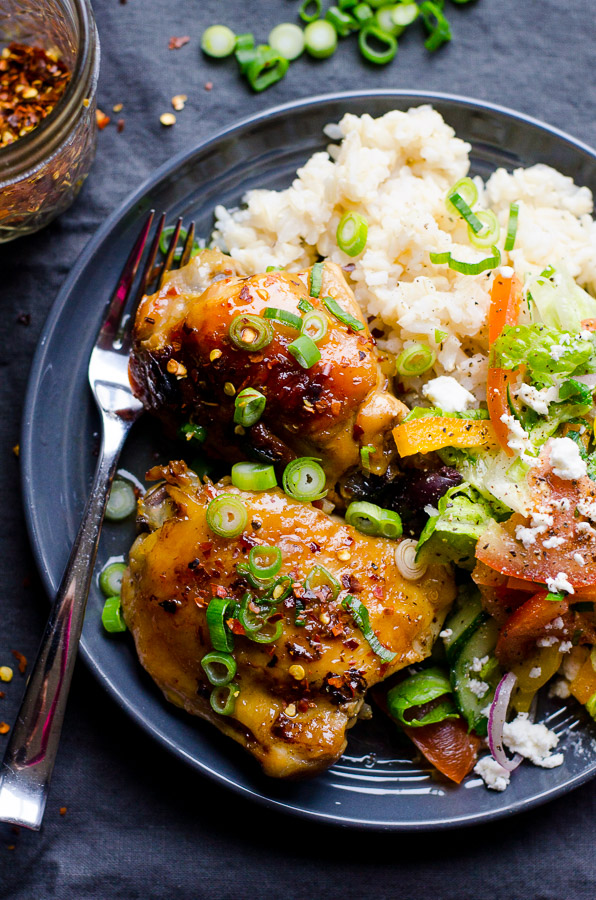 Slow Cooker Thai Chicken Thighs