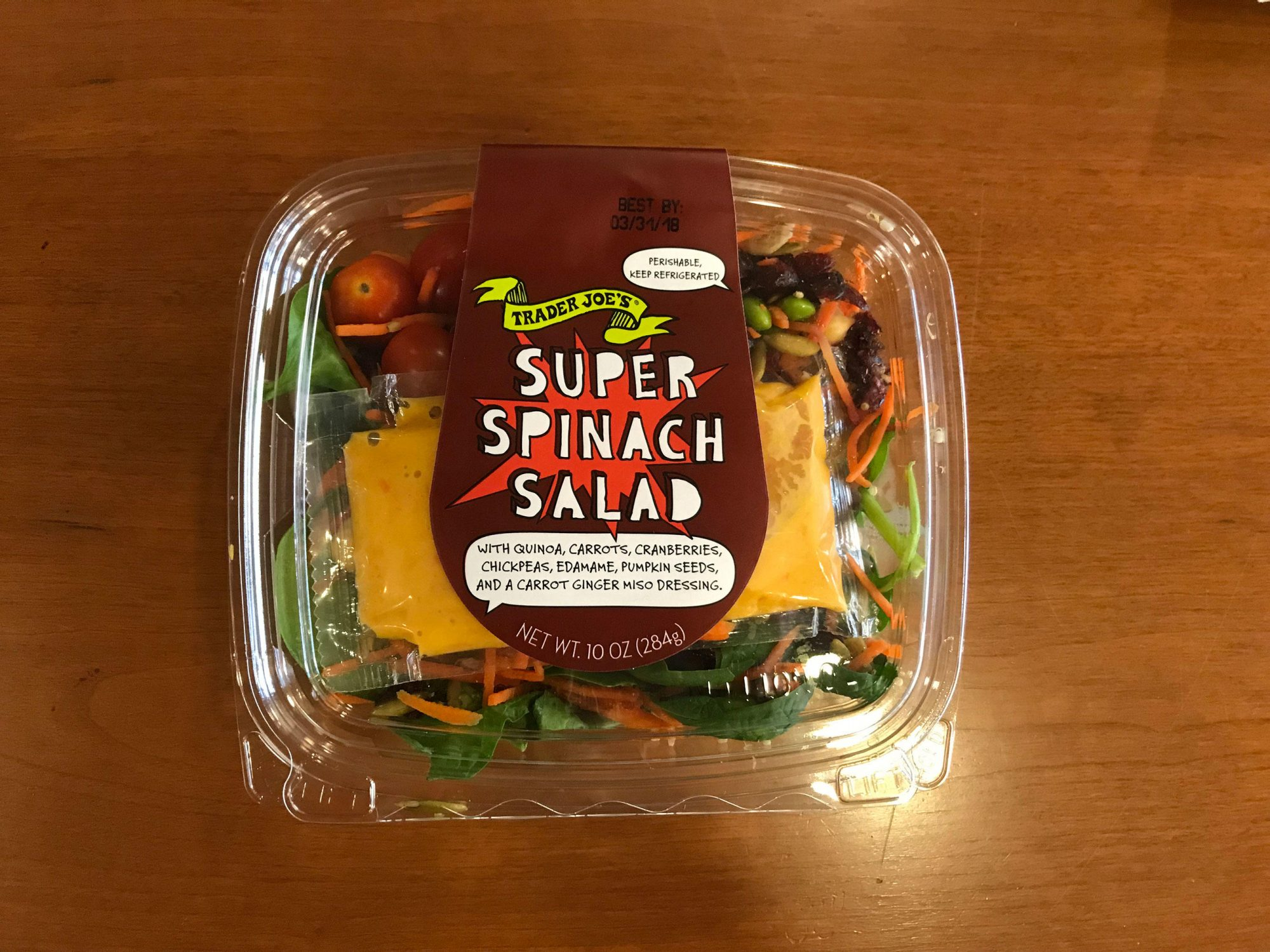 We Tried 9 Trader Joe's Salad Kits—And This One Was Our Favorite spinachsalad