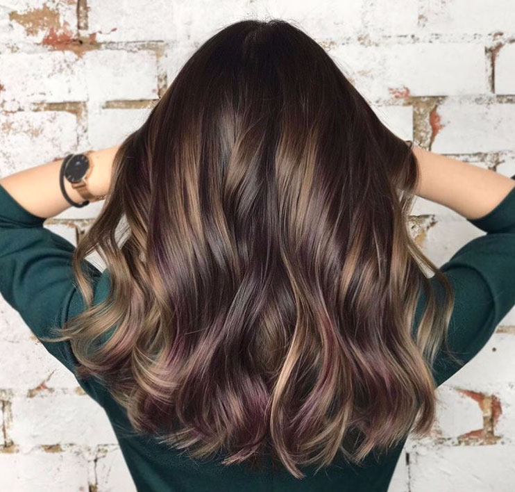 hair color pic black blackberry hair color trend trends for brunettes thatll make 2018 absolutely