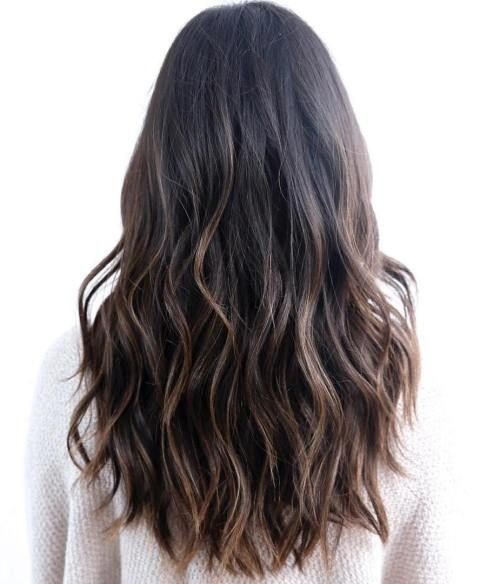 Wavy Brunette with Layers