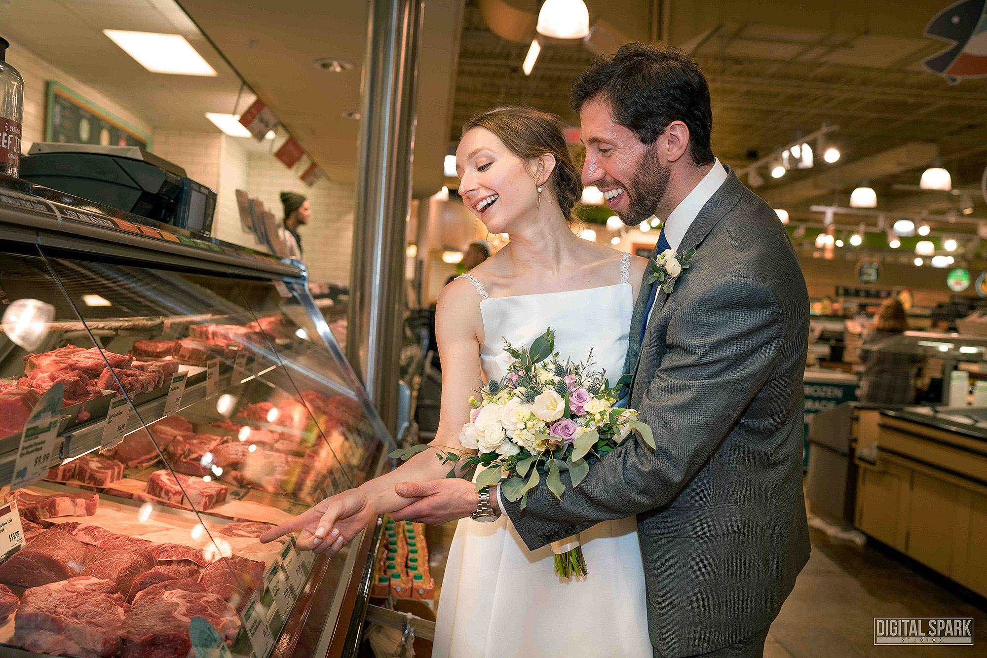 This Couple Loves Whole Foods So Much, They Got Married There whole-foods-wedding-2