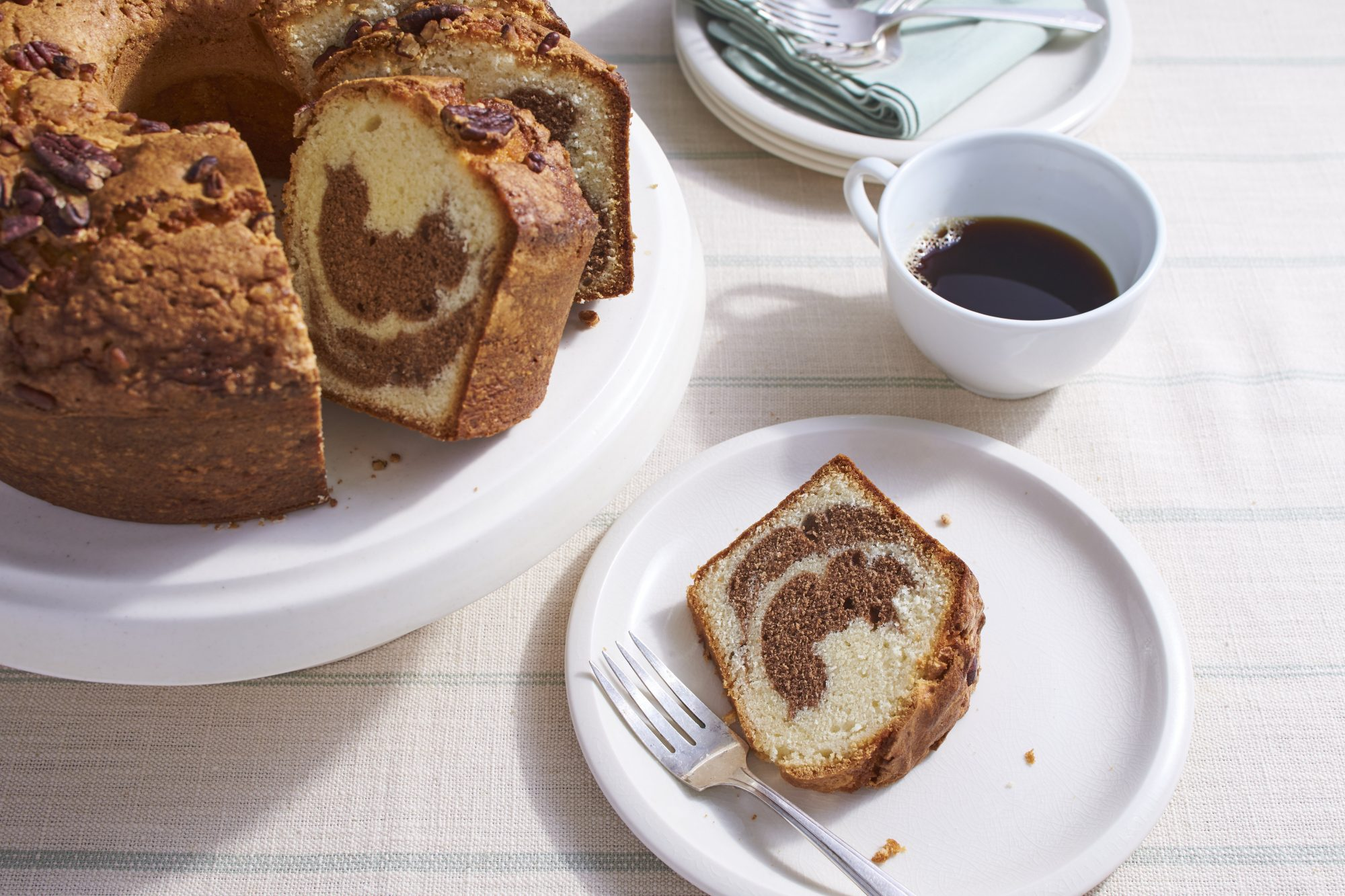 Marbled Pecan Pound Cake Recipe