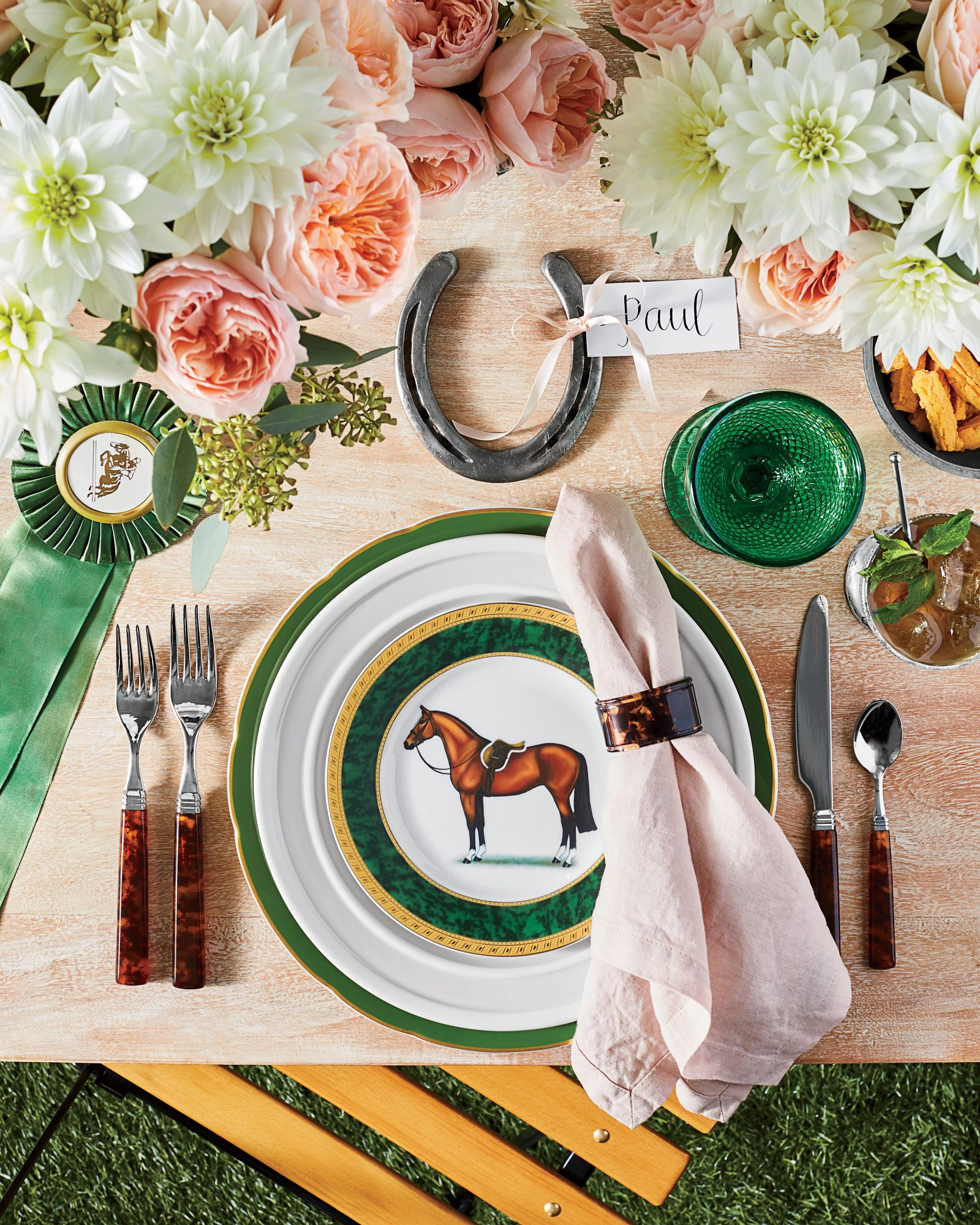 Kentucky Derby Party Table Setting