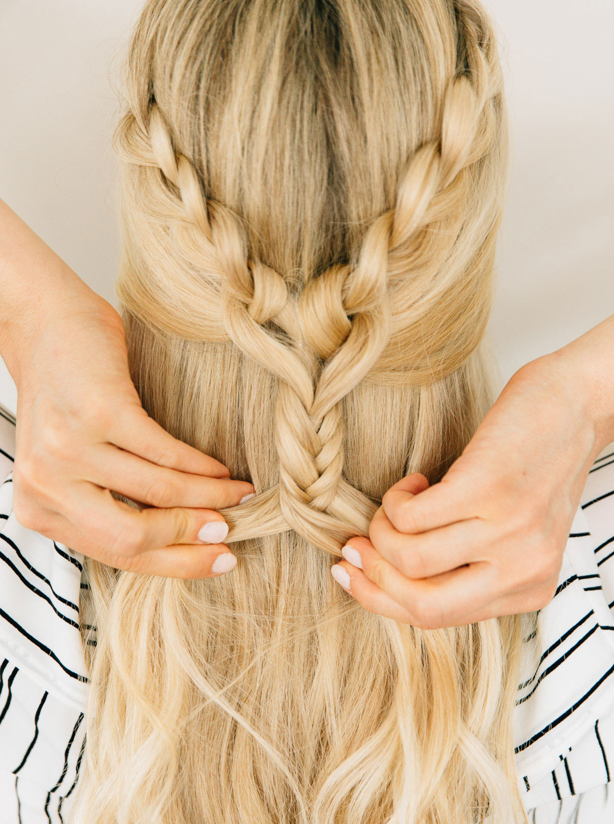 Heart Half-Up Braid