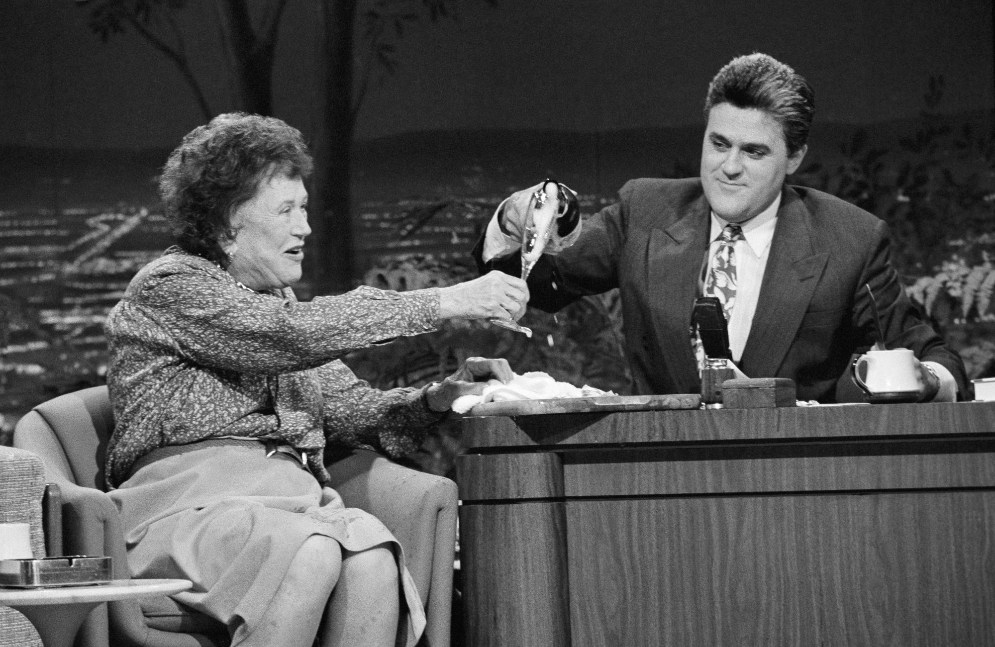 Julia Child and Jay Leno