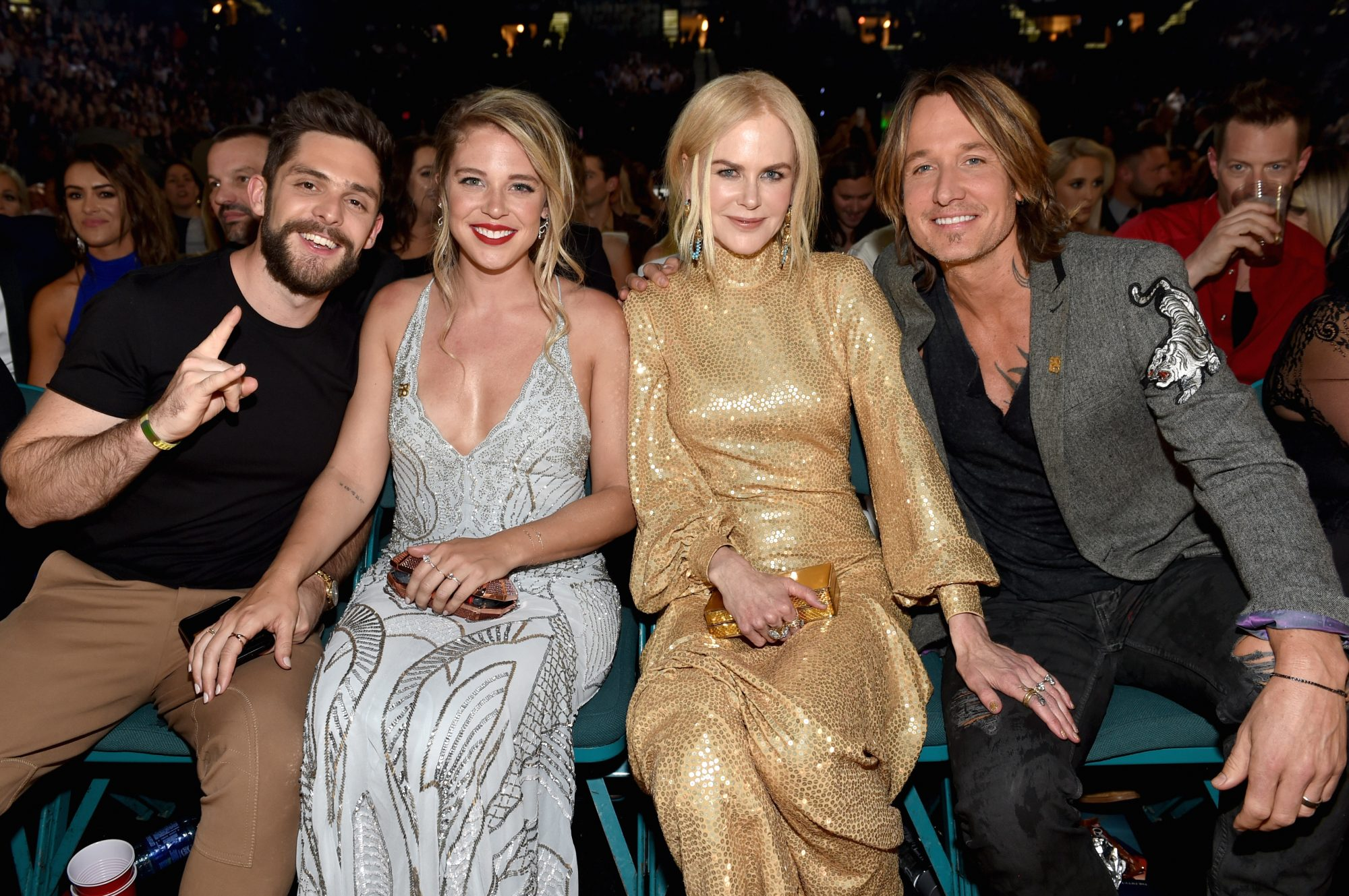 Lauren Akins and Nicole Kidman with Husbands
