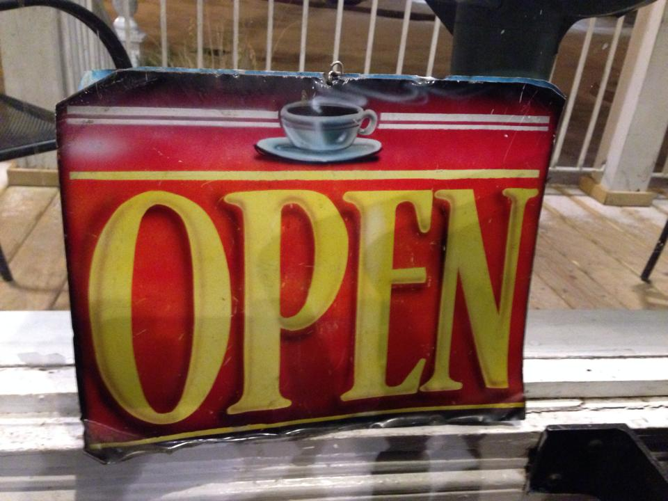 Carpe Diem Open Sign